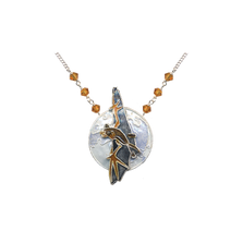 Bat and Moon Small Necklace | Bamboo Jewelry | BJ0126sn