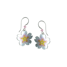 Cherry Blossom Flower Wire Earrings | Bamboo Jewelry | BJ0242e