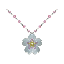 Cherry Blossom Crystal Pendant | Bamboo Jewelry | BJ0242cyn