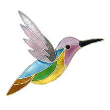 Jazz Hummingbird Pin | Bamboo Jewelry | BJ0307p