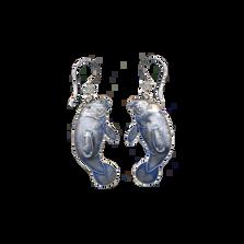 Manatee Wire Earrings | Bamboo Jewelry | BJ0130e