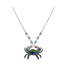 Blue Crab Small Necklace | Bamboo Jewelry | BJ0221sn