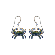 Blue Crab Wire Earrings | Bamboo Jewelry | BJ0221e