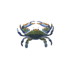 Blue Crab Pin | Bamboo Jewelry | BJ0221p