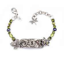 "Frog Pewter Bracelet ""Joy"" 