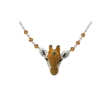 Giraffe Face Necklace | Bamboo Jewelry | BJ0214sn