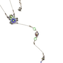 Frog Y Necklace | Nature Jewelry | NK-9530-AP