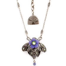 Bee Pendant Necklace  | Nature Jewelry | NK-9522-AP