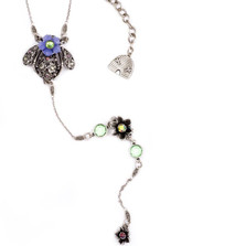 Bee and Flower Y Necklace | Nature Jewelry | NK-9520-AP