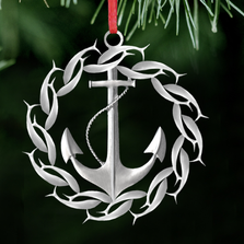 Anchor Polished Pewter Ornament | Lovell Designs | LOVOR201