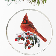 Cardinal Crystal Ornament | Winter Gems | Wild Wings