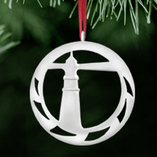 Lighthouse Polished Pewter Ornament | Lovell Designs | LOVOR206