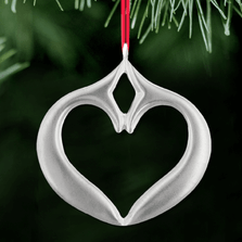 Dolphin Merrymeeting Bay Polished Pewter Ornament | Lovell Designs | LOVOR208