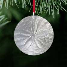 Sand Dollar Polished Pewter Ornament | Lovell Designs | LOVOR212 -2
