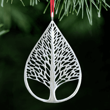 Tree of Life Polished Pewter Ornament   Lovell Designs   LOVOR215