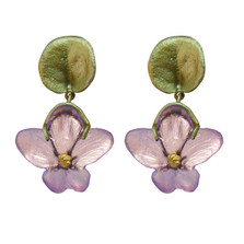 African Violet Dangle Post Earrings | Michael Michaud | 3058BZPK