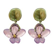African Violet Dangle Post Earrings | Michael Michaud | 3058BZPK