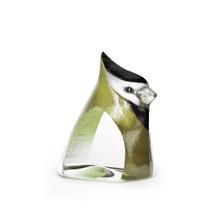 Green Birdie Painted Crystal Sculpture | 34260 | Mats Jonasson Maleras
