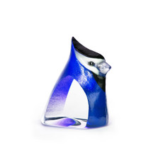 Blue Birdie Painted Crystal Sculpture | 34261 | Mats Jonasson Maleras