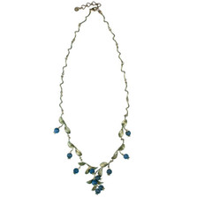 Blueberry Twigs Adjustable Necklace | Michael Michaud Jewelry | 7925BZBC