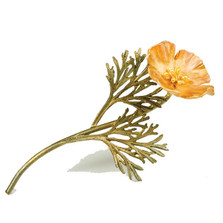 California Poppy Pin | Michael Michaud Jewelry | 5786BZYP