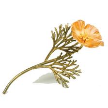 California Poppy Pin | Michael Michaud Jewelry | 5786BZYP
