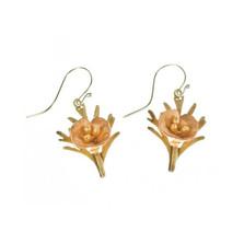 California Poppy Wire Drop Earrings    Michael Michaud Jewelry   4873BZYP