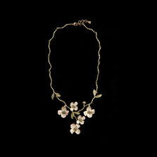 Dogwood Spray Necklace | Michael Michaud Jewelry | SS8104BZ
