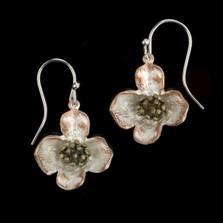 Dogwood Drop Wire Earrings   Michael Michaud Jewelry   4749BZ