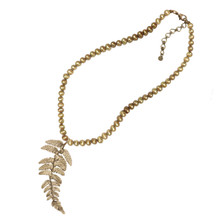 Fern Adjustable Pendant Pearl Necklace | Michael Michaud Jewelry | 9077BZGN