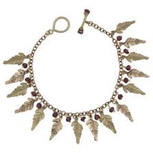 Fern and Garnet Charm Bracelet   Michael Michaud Jewelry   SS7264BZGN