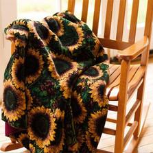 Sunflower Micro Plush Throw Blanket   Denali   16180772