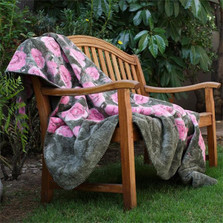 Pink Rose Micro Plush Throw Blanket | Denali | 16167572