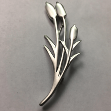 Cattails Windswept Pin