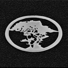 Cypress Tree Pewter Pin