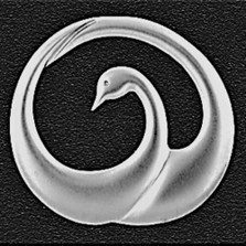 Swan Small Pewter Pendant