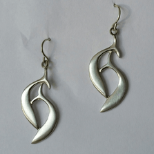"Dolphin Pewter Drop Wire Earrings ""Harmony Bay"""