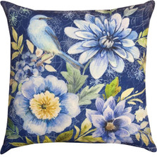 Bluebird Floral Indoor/Outdoor Pillow | Manual Woodworkers | SLBIRD