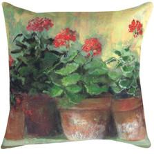 Geraniums Indoor/Outdoor Pillow | Manual Woodworkers | SLKGR2