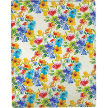 Fresh Cuts Flower Poly Throw Blanket | Manual Woodworkers | SACUTS