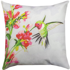 Anna Hummingbird Indoor/Outdoor Pillow | Manual Woodworkers | SLAHUM