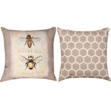 Bee Natural History Reversible Throw Pillow | Manual Woodworkers | SLNLNH