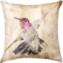 Floral Hummingbird II Indoor/Outdoor Pillow | Manual Woodworkers | SLHMB2
