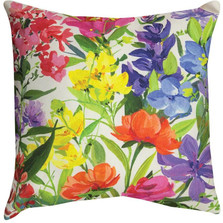 Floral Mix Indoor/Outdoor Pillow | Manual Woodworkers | SLMIXB
