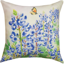 Butterfly and Bluebonnets Indoor/Outdoor Pillow | Manual Woodworkers | SLBLBM