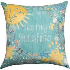 You Are My Sunshine Indoor/Outdoor Pillow | Manual Woodworkers | SLYMSS
