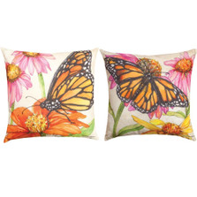 Monarch Butterfly Reversible Throw Pillow | Manual Woodworkers | SLBMDW