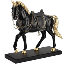 Horse Sculpture with Crystals | Unicorn Studios | WU76735VA