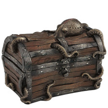 Octopus Cracked Treasure Chest Trinket Box | Unicorn Studios | WU76943A4