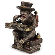 Steampunk Chimpanzee Scholar Sculpture | Unicorn Studios | WU77248A4
